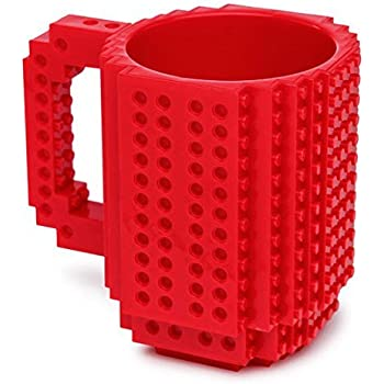 OliaDesign 1 X Build-On Brick Mug Red 12 Oz Coffee Mug