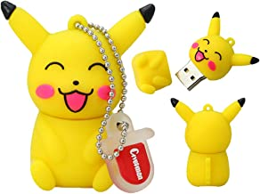 Memoria USB Pen Drive Flash USB 2.0 Dibujo Animado Pokémon Pikachu Venta en Gran Serie U-Disco Creativo Llave Cadena Portátil Alta Velocidad Transmisión de Datos Pikachu 2 8pcs 64 GB