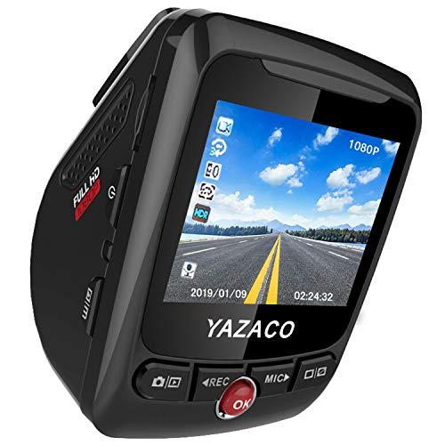 YAZACO ドライブレコーダー 前後カメラ 32g sdカード付 ドラレコ gps 1200万画素 Full HD 2.4インチ Gセンサー駐車監視 ループ録画 動体検知