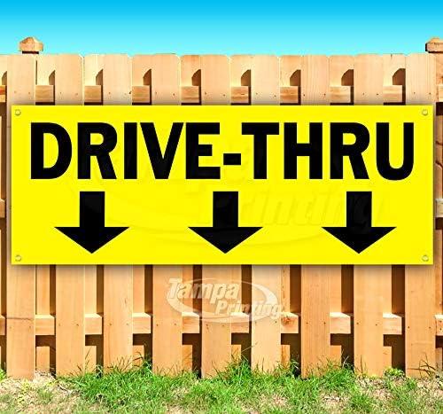 Drive-Thru 13 All items in the store oz Banner Non-Fabric Long Beach Mall Vinyl Single-S Heavy-Duty