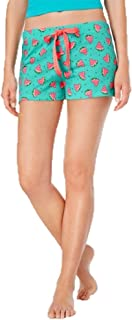 Printed Cotton Knit Boxer Pajama Shorts, Watermelon, Large