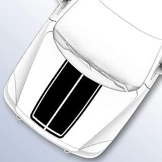 Heavy Mental Designs Split Rally Hood Stripes for 2009-2016 Ram 1500 (3.Black)
