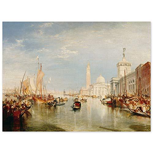JUNIWORDS Poster, Joseph Mallord William Turner, Venedig, Dogana und San Giorgio Maggiore, 54 x 40 cm