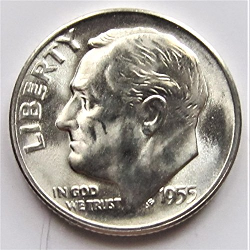 1955 S Roosevelt 90% Silver Dime Brilliant Uncirculated
