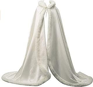 Bridal Luxury Fur Wedding Hooded Cape Long Women Cloak Party Wrap Stole