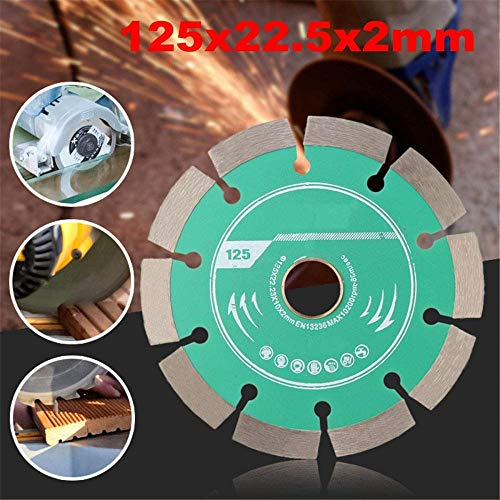 YO-TOKU Cutting Saw 1pcs 125 mm Metalen armband diamant zaagblad Wheel doorslijpschijf for Concrete marmer metselwerk Tegel Dikte 2mm Techniek Snijden, A Metal Cutting zaagmachines