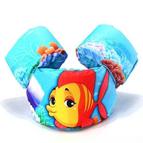 Maygone 2-6 años Chaleco de natación para niños Chaquetas de natación Brazaletes de espuma Chalecos para niños Anillos de brazo Chaleco de seguridad para niños (azul)