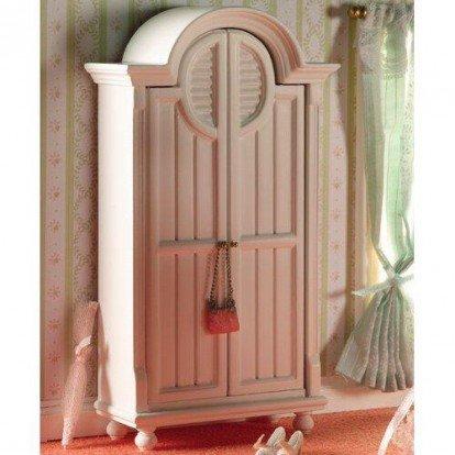 Dolls House - Armario en miniatura, escala 1:12, color blanco