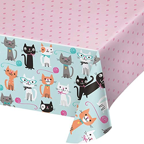 Creative Converting 329399 Cute Cats Plastic Tablecover - 1 Pc