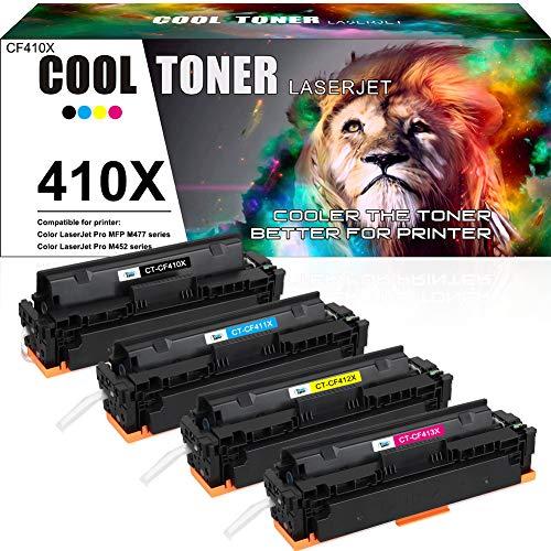 Cool Toner Compatibele Vervanging Toner Cartridge voor HP 410X 410A CF410A CF410X CF411A CF412A CF413A voor HP printers Color Laserjet Pro MFP M477fdw M477fnw M477fdn M452dn M452dw M452 MFP M477 M377