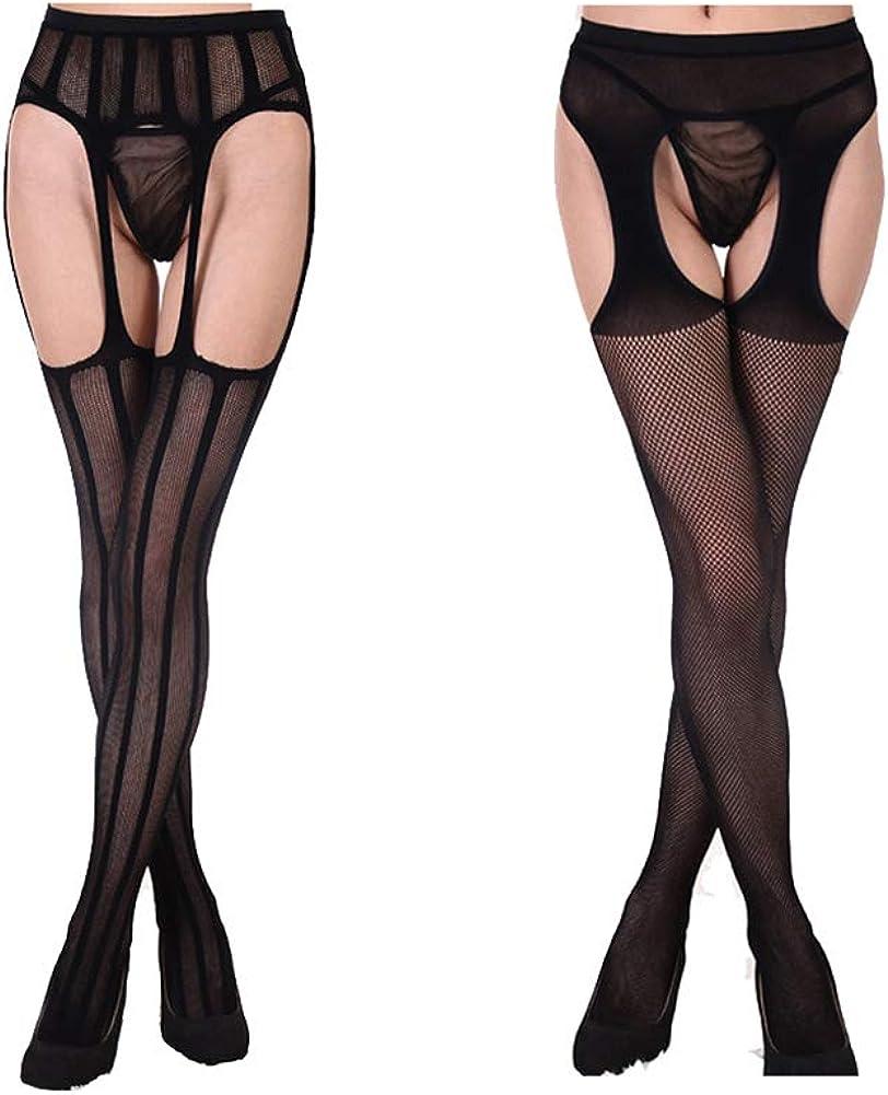 Telamee Lace Suspender Stockings for Garter Belt Thigh High Pantyhose Leggings
