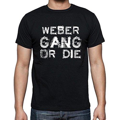Weber Family Gang, Camiseta para Las Hombres, Manga Corta, Cuello Redondo, Negro