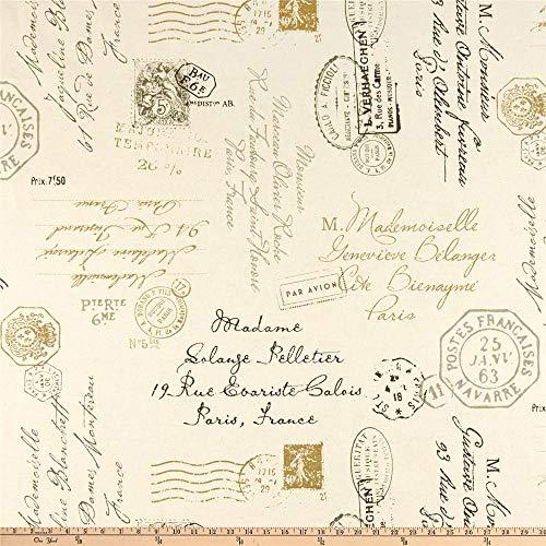 Richloom Postscript Paris Graphite, Fabric by the Yard