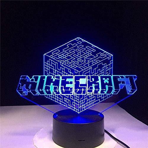 Lámpara De Ilusión De Cubo De Rubik Luz Nocturna 3D LED Creatividad 16 Cambio De Color Con Control Remoto Y Toque Inteligente Lámpara De Humor Con Usb Mejor Regalo Para Niños