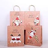 PYBH Regalo Feliz Navidad Bolsas de Papel Kraft del Bolso del árbol de Navidad del Copo de Nieve de Navidad del Caramelo Caja de Año Nuevo de los niños Bolsa de empaquetado de los favores