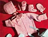 Knit a Baby Set Pattern - Knitting Patterns for Knitted Baby Block Set Pattern for Jacket, Cap, Booties, Mittens (English Edition)