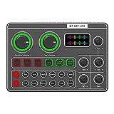 Kaxofang G7 Scheda Audio Esterna Cuffia USB Microfono Mixer Webcast Scheda Audio Trasmissione nel Diretta Ricaricabile per Telefono Pc Computer