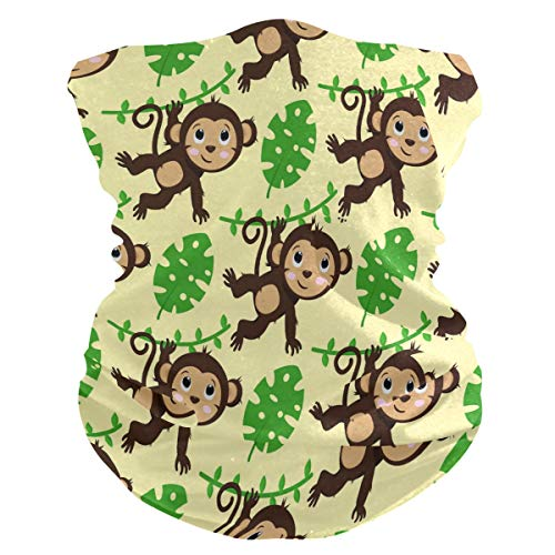 Lerous - Pasamontañas sin costuras, diseño de hojas de mono, para el cuello, polainas para el polvo, UV y resistencia al sol al aire libre (con filtro de 2 pm 2.5)