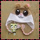 Gorro Hamster PERSONALIZABLE (Bebé, crochet, ganchillo, muñeco, peluche,...
