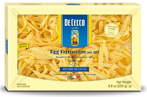 De Cecco Egg Pasta, Egg Fettuccine No.103, 8.8 Ounce (Pack of 4)