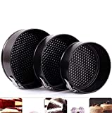 Cake Tin Set,Nonstick and Leakproof 3 Pieces (9'/10'/11') Cake Pan Spring form Cheesecake Pan Set with Removable Bottom