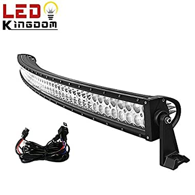 LED Light Bar YITAMOTOR 52 Inch Curved Led Bar Flood Spot Combo LED Driving Fog Light compatible for ATV SUV UTE Jeep Pickup Truck with Wiring Harness and Mounts 300W, 3 Years Warranty