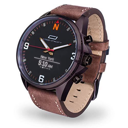 Oskron Gear Herrenschmuckuhr mit Smartwatch Funktionen 015-braun