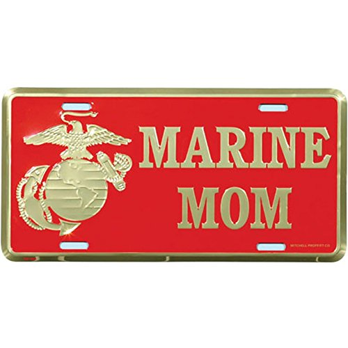 Honor Country US Marine Mom License Plate