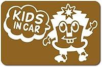 imoninn KIDS in car ステッカー 【マグネットタイプ】 No.65 ハーイさん (ゴールドメタリック)