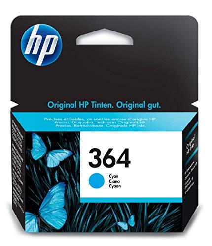 HP 364 cartouche d'encre cyan authentique pour HP DeskJet 3070A et HP Photosmart 5525/6525 (CB318EE)