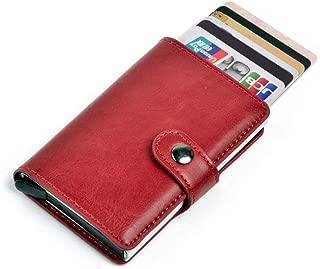 TYT Card Holder with RFID Blocking, Pop-Up Metal Credit Card Case for Men