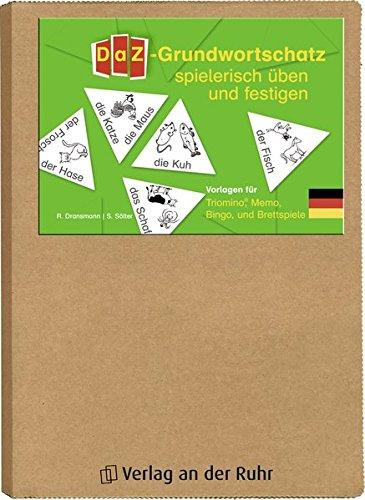 DaZ-Grundwortschatz spielerisch üben und festigen: Vorlagen für Triomino®, Memo, Bingo und Brettspiele