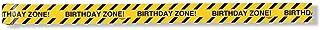 Creative Converting Under Construction Birthday Zone Warning Tape (Value 2-Pack),Yellow