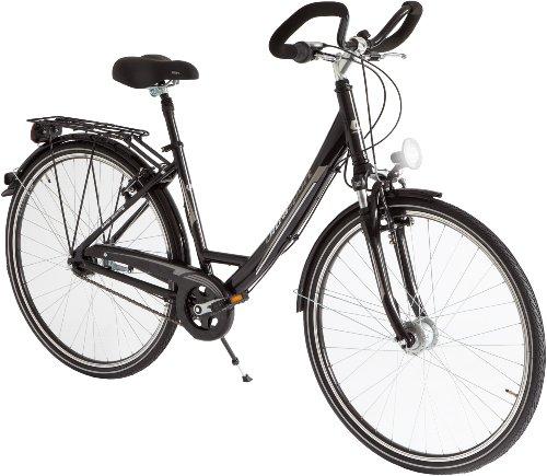 Ultrasport Wave, 28 Inches Bicicleta Urbana de Aluminio, Mujer, Negro, Cuadro 45 cm