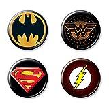 Ata-Boy DC Comics Originals Justice League Dark Logos Set of 4 1.25' Collectible Buttons