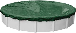 Pool Mate 3733-4-PM Forest Green Winter Pool Cover for Round Above Ground Swimming Pools, 33-ft. Round Pool