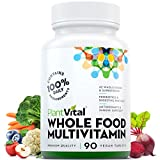 New! Whole Food MULTIVITAMIN with 56 Superfoods, Raw Veggies & Fruits, Probiotics, Digestive Enzymes, B-Complex, Omegas & More. Vegan/Non-GMO. Dairy/Soy/Gluten Free. 90 Vegan Tablets
