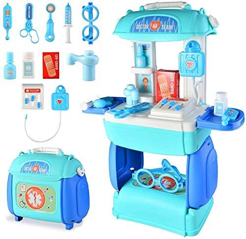 TR Turn Raise Juguetes de Médicos,3 en 1Doctora Juguete Kit,Doctora Enfermeras Accesorios Juegos de rol para 3 4 5 Años Niños Niñas