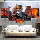LTXMZ de 5 Paneles Panel Impresiones HD Militar del helicóptero de Combate de la Lucha Pared decoración del artísticos para Interiores