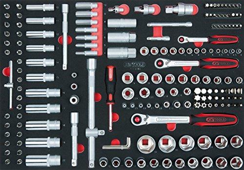 'KS Tools 7110180SCS 1/10,2cm und 3/20,3cm und 1/2Socket Set (180Stück), 1/1System einfügen