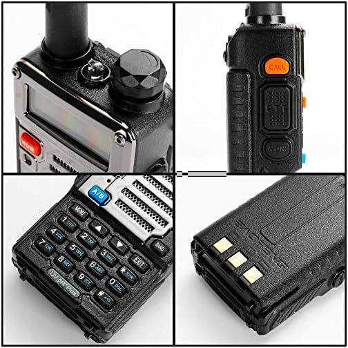 BaoFeng UV-5R Plus Dual-Band 136-174/400-480 MHz FM Ham Two-Way Radio (Black) 4
