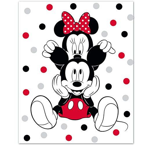 Disney - Manta de forro polar con diseño de Mickey Mouse, 100 x 140 cm