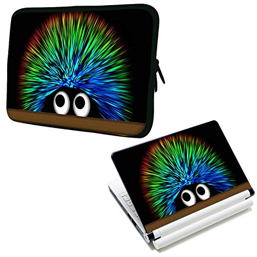 LUXBURG 17' Inches Design Laptop Notebook Sleeve Soft Case Bag Plus Free Laptop Skin Vinyl Decal! For Apple, Acer, Asus, Chromebook, Dell, HP, Lenovo, Samsung, Sony, Toshiba etc Laptops