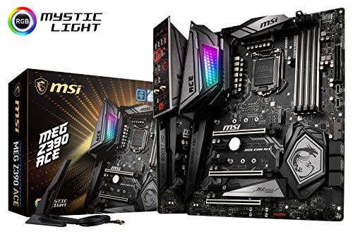 MSI MEG Z390 ACE LGA1151 (Intel 8th and 9th Gen) M.2 USB 3.1 Gen 2 DDR4 Wi-Fi SLI CFX ATX Z390...