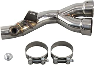 OzCoolingParts 06-17 Yamaha Mid Pipe Y Pipe, Stainless Clamp Mid Pipe Y Pipe Link Race Exhaust Decat CAT Eliminator for Yamaha R6 2006-2017