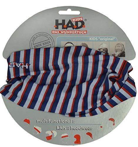 Had HA5890-378 Longside Short de Bain pour Enfant Rayures Bleues et Blanches