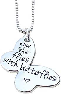 Majesto Inspirational Necklace for Women Teen Girls - Butterfly Shaped Fashion Jewelry Pendant - Prime Gift