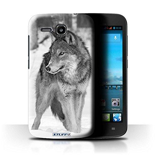 Hülle Für Huawei Ascend Y600 Zoo-Tiere Wolf Design Transparent Ultra Dünn Klar Hart Schutz Handyhülle Case