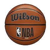 Wilson Ballon de Basket, NBA DRV PLUS, pour l'extérieur, caoutchouc, Taille : 5, Marron