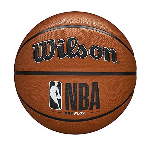 Wilson Pallone da Basket NBA DRV PRO PLUS, Utilizzo Outdoor, Gomma, Misura: 7, Marrone